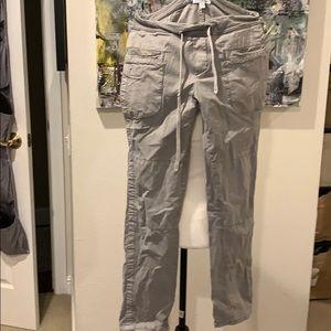 James Perse light grey cargo pants size 1